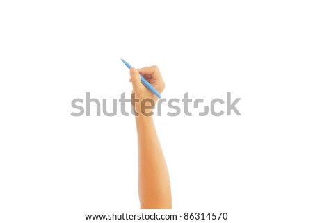 hand with a pen (write)