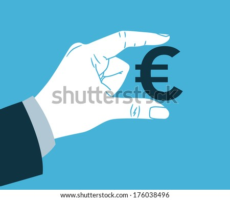 hand with euro symbol