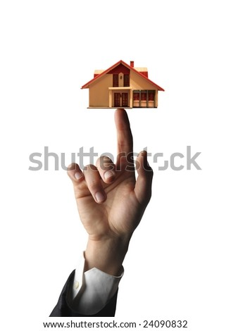 hand with house - stock photo