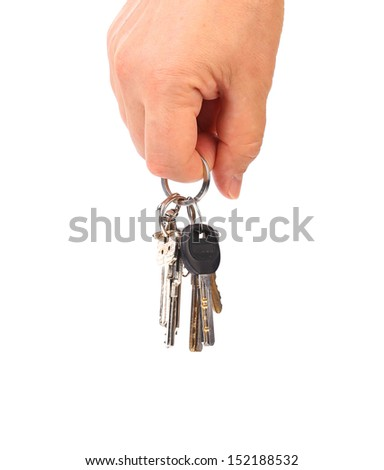 Hand with keys.