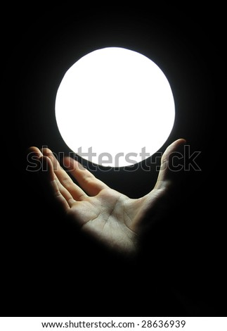 Hand with Marble - stock photo