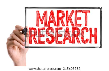 Hand with marker writing the word Market Research - stock photo