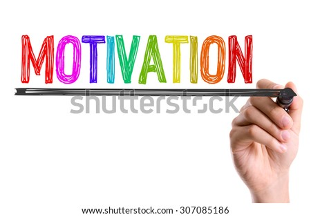 Hand with marker writing the word Motivation - stock photo
