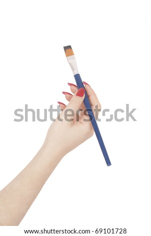Hand with painting brush