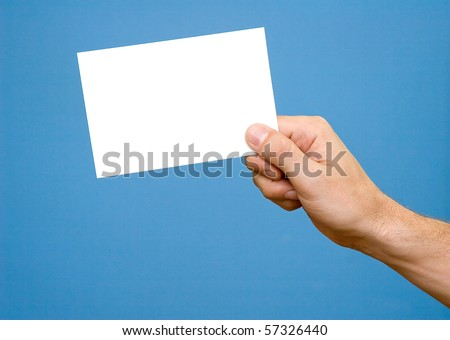 Hand with photography - stock photo