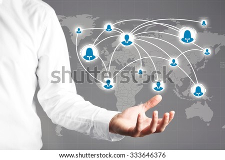 Hand with social network structure