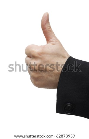 hand with thumb up - stock photo