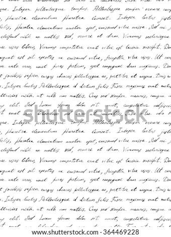 Hand Writing Black White Letter Latin Stock Illustration 364469228 ...