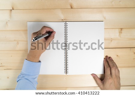 Hand writing idea on book