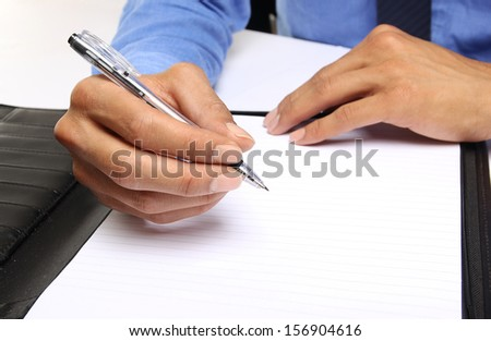 Hand writing in the document