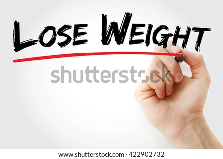 Hand writing Lose Weight with marker, health concept background - stock photo