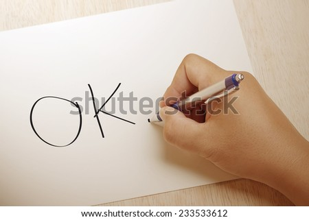 Hand writing OK on paper