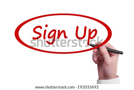 Hand writing Sign Up - stock photo
