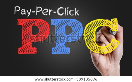 Hand writing the text: Pay-Per-Click - stock photo