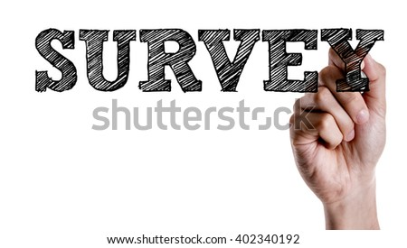 Hand writing the text: Survey - stock photo