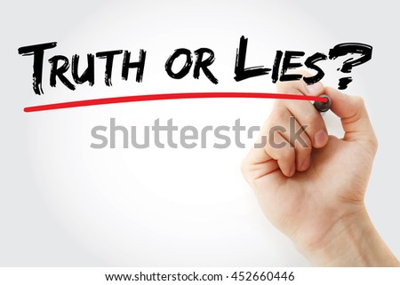 Hand writing Truth or Lies? with marker, concept background - stock photo