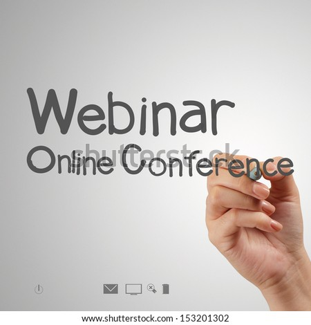 hand writing Webinar as concept - stock photo