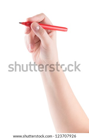 hand writing with marker isolated on white