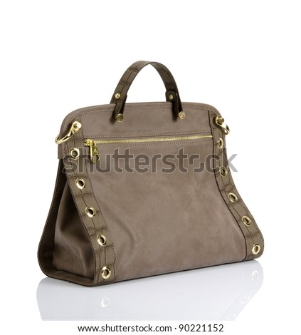 handbag isolated - stock photo