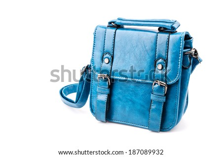 Handbag isolated white background - stock photo