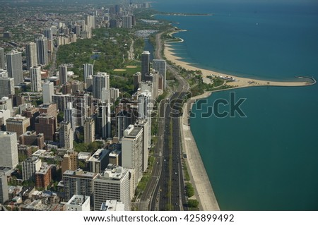 Handcock tower view chicago  - stock photo