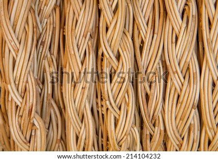 handcraft of rattan weave pattern for background - stock photo