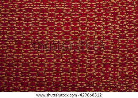 handcraft rattan  texture for background - stock photo
