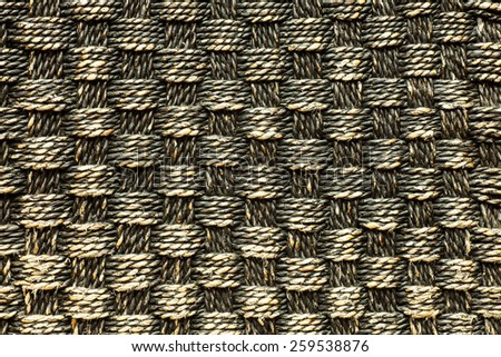 Handcraft weave texture natural wicker, vintage background - stock photo