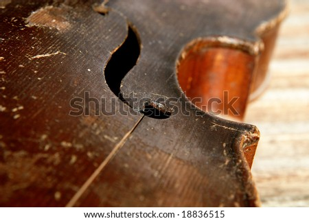 handcrafted musical instrument - stock photo