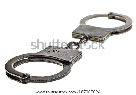 handcuffs   - stock photo