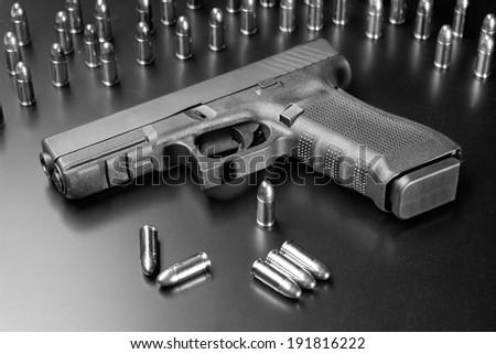 Handgun, mean of protection - stock photo
