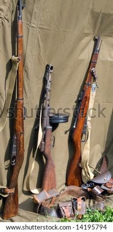 handgun - World War II period - stock photo