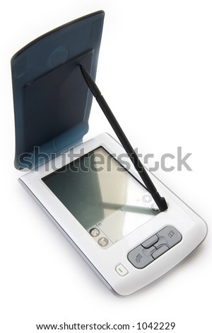 handheld computer - stock photo