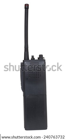 Handheld two way radio designed for higher frequencies - stock photo