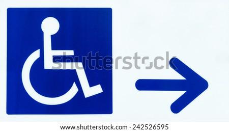 handicap entrance sign stock photo royalty free 242526595