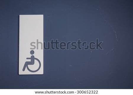 Handicap or wheelchair  toilet signs ( Filtered image processed vintage effect. ) - stock photo