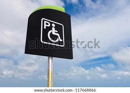 Handicap Parking Sign - stock photo