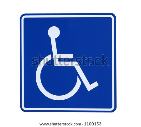 Handicap Sign lsolated - stock photo