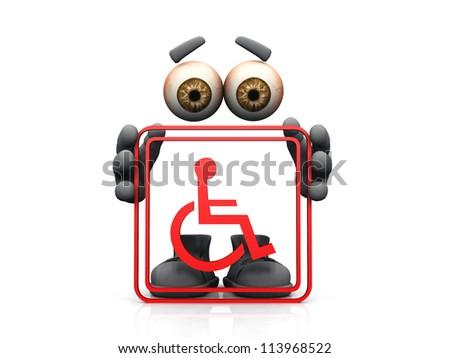 handicap symbol on a white background - stock photo