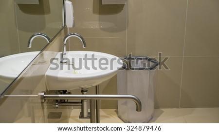 Handicap Toilet - stock photo
