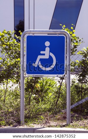 handicaped parking sign - stock photo