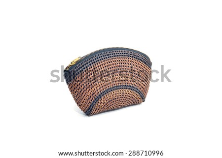 Handicraft handmade knitting bag. medium-sized