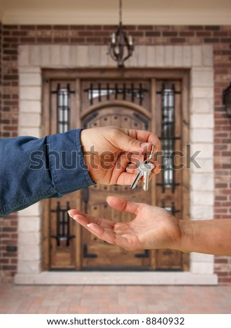 Handing Over the Keys to A New Home - stock photo