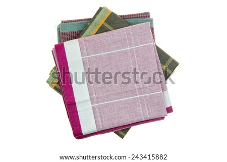 Handkerchief isolated on the white background  - stock photo
