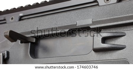 Handle that is used to charge a semi automatic rifle