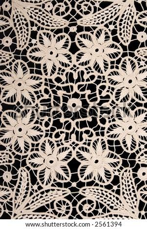 Handmade antique lace - stock photo