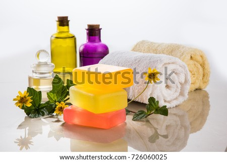 Handmade Ayurvedic Soap Bath Spa Accessories Stock Photo (Royalty ...