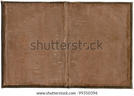 Handmade book cover from inside, may use as background - stock photo