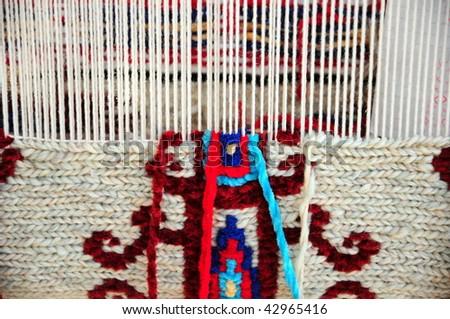 handmade carpet - stock photo