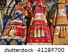 Handmade colorful turkish bags. - stock photo
